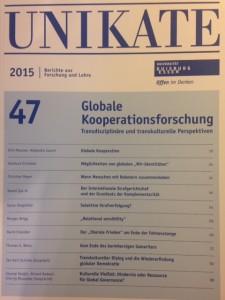 "'Dear ""Liberale Frieden"" am Ende der Fahnstange', UNIKATE, 47, Globale Kooperationsforschung: Transdisziplinare und transkultrelle Perspektiven (Universitat Duisburg-Essen, 2015)."